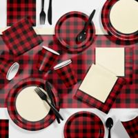 Creative Converting™ 81-Piece Buffalo Plaid Paty Supplies Kit
