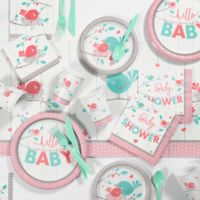 """Creative Converting™ 81-Piece """"Hello Baby"""" Girl Party Supplies Kit"""