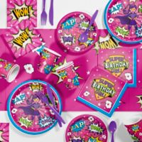 Creative Converting™ 81-Piece Superhero Girl Party Supplies Kit