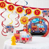 Creative Converting™ Fire Truck Party Decorations Kit