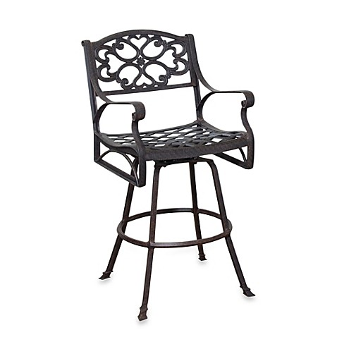 Home Styles Biscayne Bistro Stool in Rust-Bronze