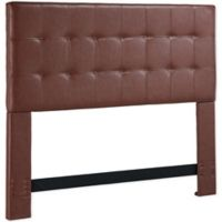 Dwell Home Andez King/California King Faux Leather Headboard in Brown