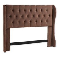 Dwell Home Yorkshire Full/Queen Diamond Tufted Upholstered Headboard in Chocolate