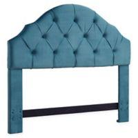 Dwell Home Fairmont Full/Queen Velvet Headboard in Ice Blue