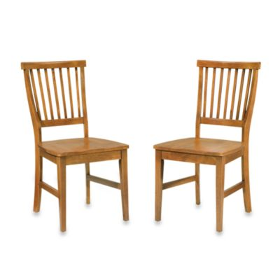 home styles arts u0026 crafts dining chairs in oak set of