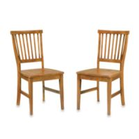 Home Styles Arts & Crafts Dining Chairs in Oak (Set of 2)