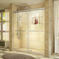 "DreamLine Charisma 44-48"" W x 76"" H Frameless Bypass Sliding Shower Door in Brushed Nickel"