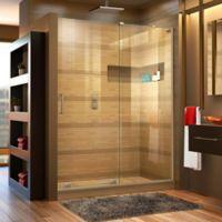 DreamLine® Mirage-X 56-60-Inch x 72-Inch Right Frameless Sliding Shower Door in Nickel