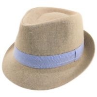 Addie & Tate Newborn Linen Fedora in Tan