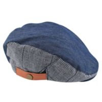 Addie & Tate Toddler Chambray Cabbie Hat in Blue