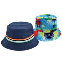 Addie & Tate Reversible Infant Tye Dye/Navy Bucket Hat