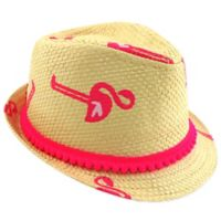 Addie & Tate Newborn Pink Flamingo Fedora Hat