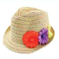 Addie   Tate Newborn Confetti Straw Fedora Hat fa04439f73da
