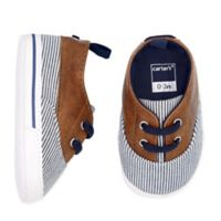 carter's® Size 3-6M Striped Boat Shoe in Brown/Blue