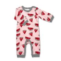 Newborn Allover Watermelon Print Coverall
