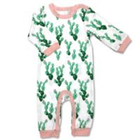 Newborn Allover Cactus Print Coverall