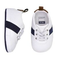 carter's® Size 0-3M Striped Sneaker in Navy/White