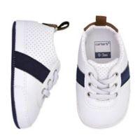 carter's® Size 9-12M Striped Sneaker in Navy/White