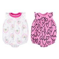 Lamaze® Size 6M 2-Pack Heart and Rainbow Bubble Rompers