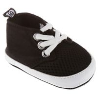 Stepping Stones Mesh Size 6-9M Lace-Up Sneakers in Black