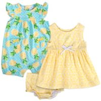 668624cab339 Baby Essentials Size 3M 3-Piece Pineapple Romper
