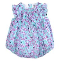 Baby Essentials Size 6M Asymmetrical Dots Chiffon Bubble Romper in Lilac