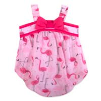 Baby Essentials® Size 6M Flamingo Romper in Pink
