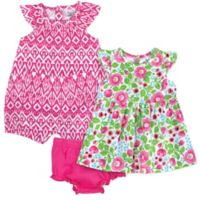 Baby Essentials® Size 9M 3-Piece Floral Layette Set in Pink