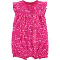carter's® Newborn Heart Snap-Up Romper in Pink