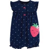 Carter's® Polka Dots 6M Snap-Up Romper in Navy