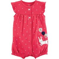 carter's® Polka Dots Bunny 3M Snap-Up Romper in Red