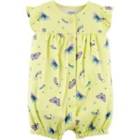 Carter's® Butterfly 12M Snap-Up Romper in Yellow