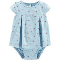 carter's® Size 6M Chambray Stripe Sunsuit in Blue