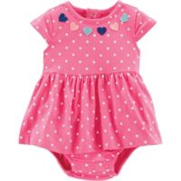 carter's® Size 3M Dot and Heart Bodysuit Dress