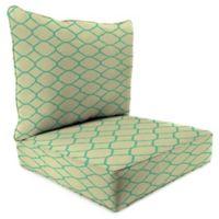 24-Inch x 24-Inch 2-Piece Deep Seat Chair Cushion in Sunbrella® Accord Jade