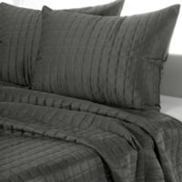 Rizzy Home Satinology King Quilt Set in Grey