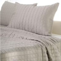 Rizzy Home Satinology Queen Quilt Set in Moss/Grey