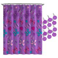 Nickelodeon™ JoJo Siwa Dream Believe Shower Curtain and Hooks Set