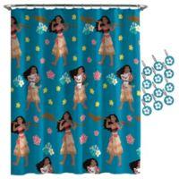 Disney® Moana Flower Power Shower Curtain