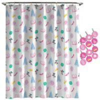 Disney® Princess Sassy Accessories Shower Curtain in White