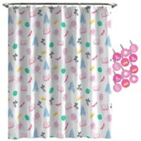 DisneyR Princess Sassy Accessories Shower Curtain In White