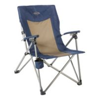 Kamp-Rite® 3-Position Reclining Chair in Blue/Tan