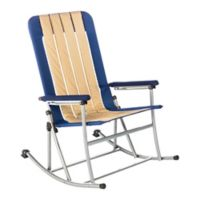 Kamp-Rite® Folding Rocking Chair in Blue/Tan