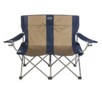 Kamp-Rite® Double Folding Chair in Blue/Tan