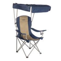 Kamp Rite Chair With Shade Canopy In Blue Tan
