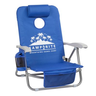 d54a7719f8 Kamp-Rite® SAC-IT-UP™ Cornhole Beach Chair in Blue