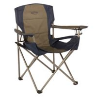 Kamp-Rite® Folding Chair with Lumbar in Blue/Tan