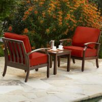 Royal Garden Bridgeport 3-Piece Seating Set in Red