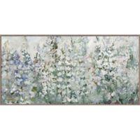 Belle Fleurs 29-Inch x 58-Inch Canvas Framed Wall Art
