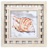 Prinz Romantic Shell 16-Inch Square Framed Wall Art in Natural